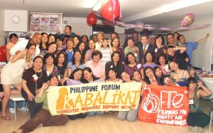 Members of Kabalikat and FiRE's Mother's Day Celebration