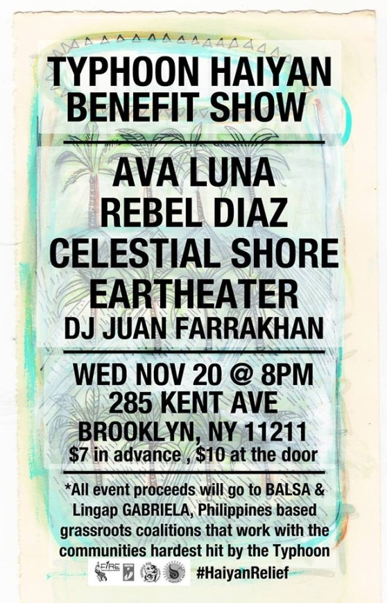 Typhoon Haiyan Benefit Show